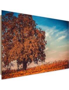 Tableau bois Tree in autumn