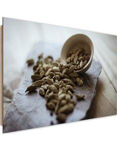 Tableau bois Kitchen Spices cardamom