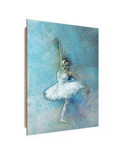 Tableau bois Beautiful ballerina