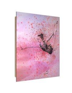 Tableau bois Dancing ballerina abstraction