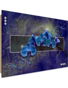 Tableau bois orchid color blue