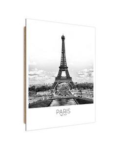Tableau bois Paris Eiffel Tower
