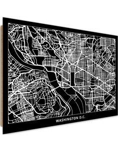 Tableau bois Plan of Washington
