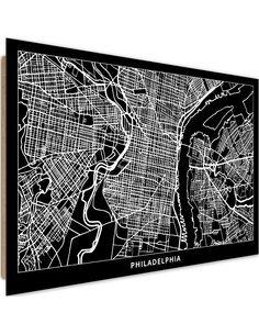 Tableau bois City Philadelphia