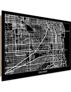 Tableau bois City of Chicago