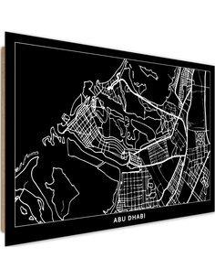 Tableau bois City of Abu Dhabi