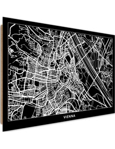 Tableau bois Plan of the City of Vienna