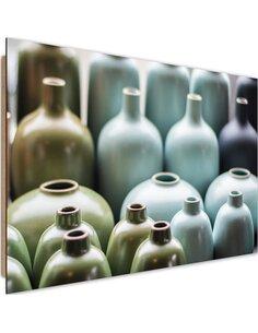 Tableau bois Pastel vases