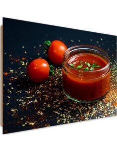 Tableau bois tomato cream