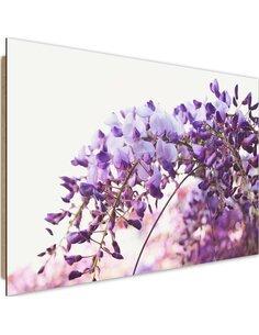 Tableau bois Lilac flowers wisteria