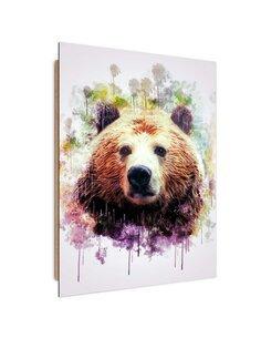 Tableau bois bear head
