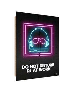 Tableau bois Neon DJ