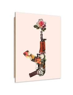 Tableau bois rifle flowers