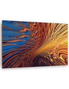 Tableau bois Desert abstraction