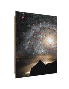 Tableau bois Galaxy