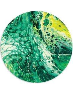 Tableau bois green marble