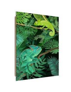 Tableau bois Chameleons