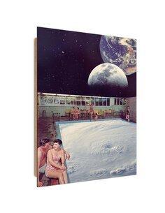Tableau bois Space pool