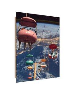 Tableau bois Space ride