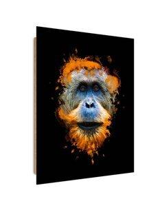 Tableau bois Orangutan