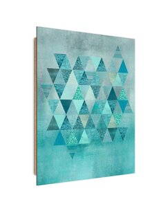 Tableau bois pattern of triangles