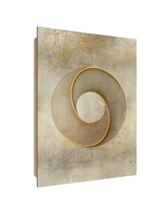 Tableau bois Abstract circle