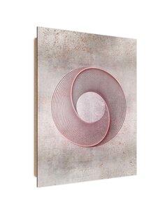 Tableau bois abstract swirl