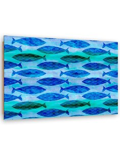 Tableau bois Abstract fish