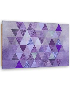 Tableau bois triangular design