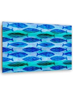 Tableau bois Pattern fish