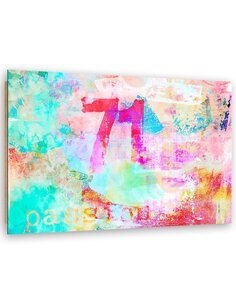 Tableau bois Number, abstraction