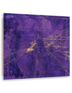 Tableau bois abstract, violet 2