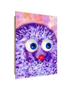 Tableau bois hedgehog abstraction