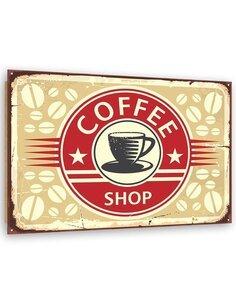 Tableau bois Retro - 1 coffee