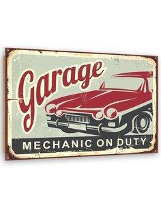 Tableau bois Retro - garage