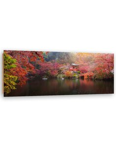 Tableau bois Japan in autumn colors