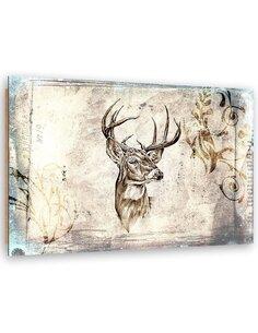 Tableau bois abstract deer