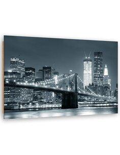 Tableau bois Brooklyn Bridge