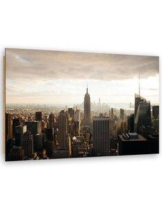 Tableau bois View of Manhattan