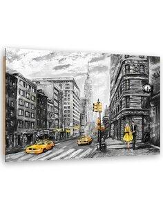 Tableau bois Street in New York City