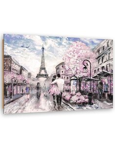 Tableau bois Spring in Paris