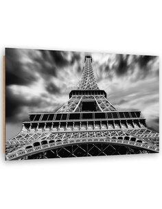 Tableau bois Eiffel Tower