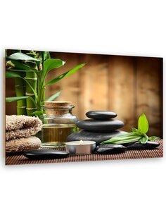 Tableau bois Composition Zen