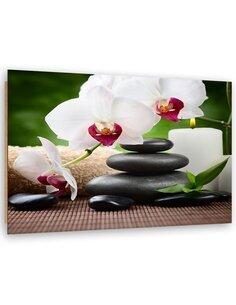 Tableau bois Zen Orchids