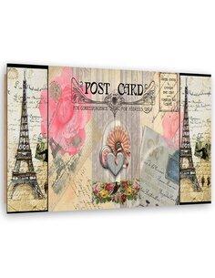 Tableau bois Postcard from Paris