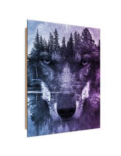 Tableau bois Violet Wolf