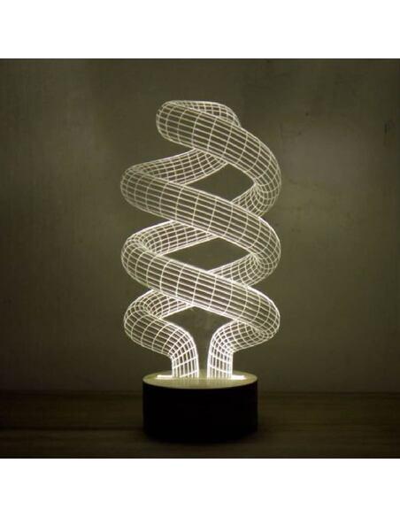 Lampe Bulbing SPIRAL 3D Lumière Led