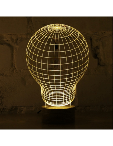 Lampe Bulbing « ORIGINAL » 3D À Lumières Led