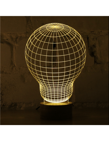 Lampe Bulbing « ORIGINAL » 3D À Lumières Led