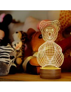 Lampe Bulbing TEDDY BEAR Tridimensionnelle Lumières Led
